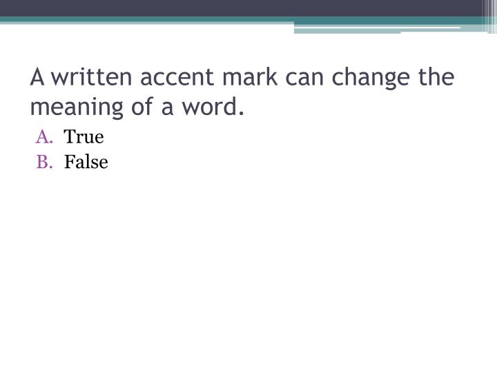 how to make an accent mark in word
