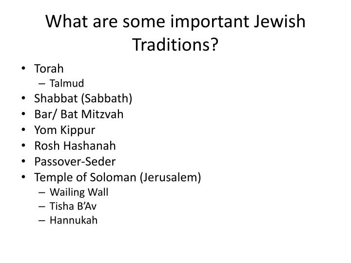 What are some important Jewish