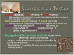 classification texture