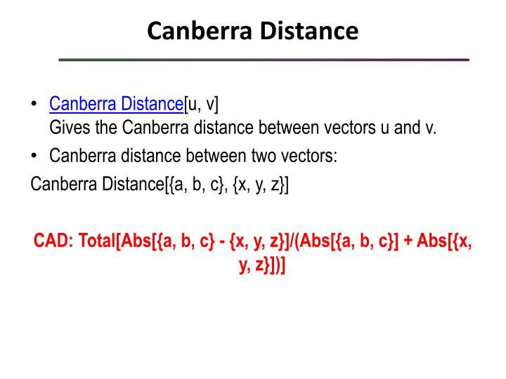 Canberra Distance