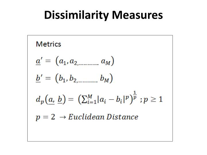 Dissimilarity Measures