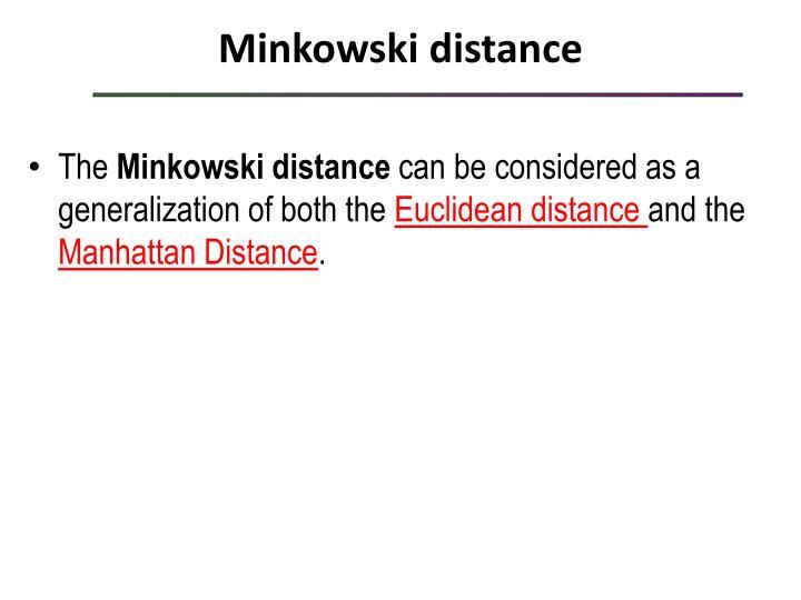 Minkowski distance