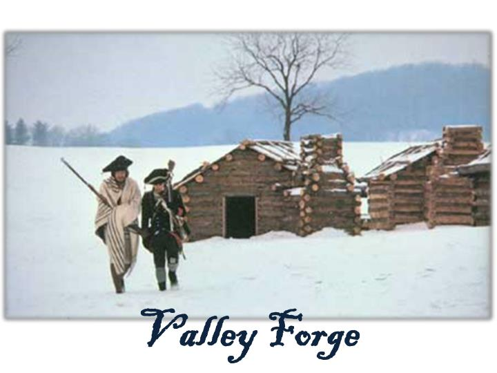 winter valley forge essay The continental army suffered another defeat at the battle of germantown just north of philadelphia on oct 4 general washington led his weary and demoralized army to valley forge a few miles away where they would camp for the winter and prepare for battle with the return of warm weather.