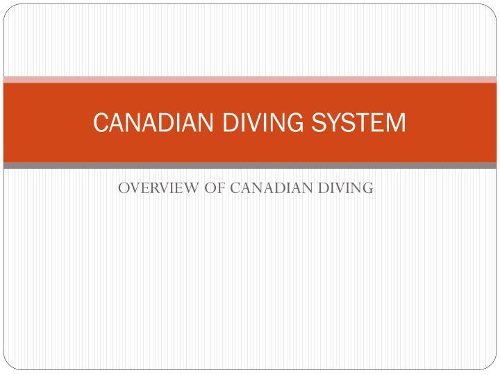 canadian diving system n.
