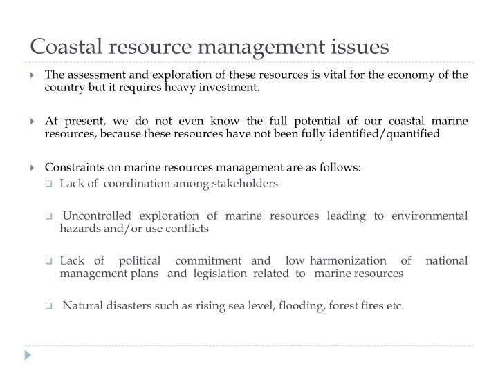 Coastal resource management issues