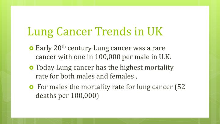 Lung Cancer Trends in UK