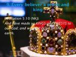 9 every believer a priest and king