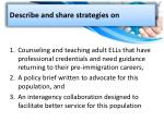 describe and share strategies on