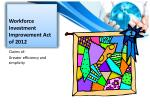 workforce investment improvement act of 2012