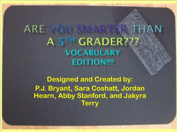 are you smarter than a 5 th grader vocabulary edition n.