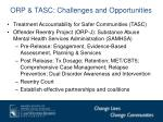 orp tasc challenges and opportunities