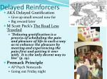 delayed reinforcers