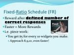 fixed ratio schedule fr