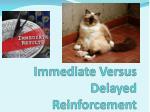 immediate versus delayed reinforcement