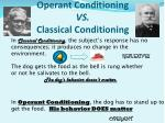 operant conditioning vs classical conditioning