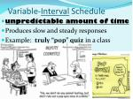 variable interval schedule
