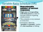 variable ratio schedule vr
