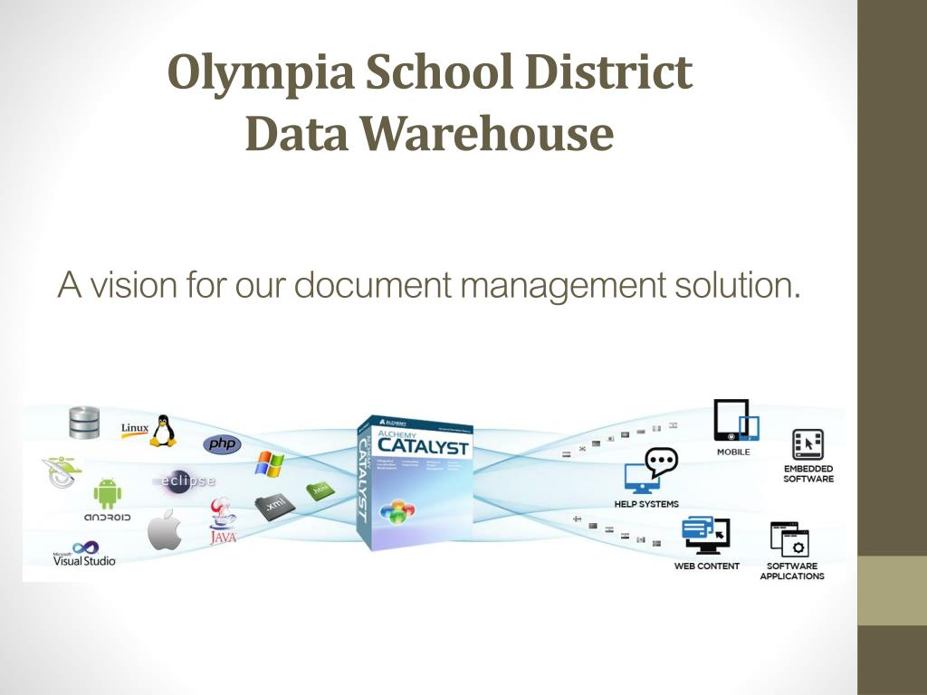 PPT - Olympia School District Data Warehouse A vision for our