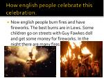 how english people celebrate this celebration