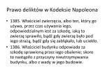 prawo delikt w w kodeksie napoleona1