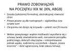 prawo zobowi za na pocz tku xix w kn abgb1