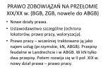 prawo zobowi za na prze omie xix xx w bgb zgb nowele do abgb1