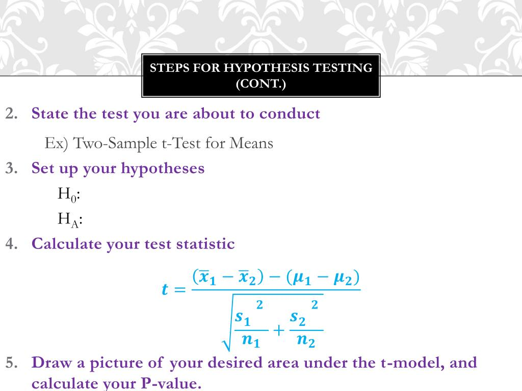 PPT - 8 1 – 8 2: Hypotheses tests for two-sample means PowerPoint