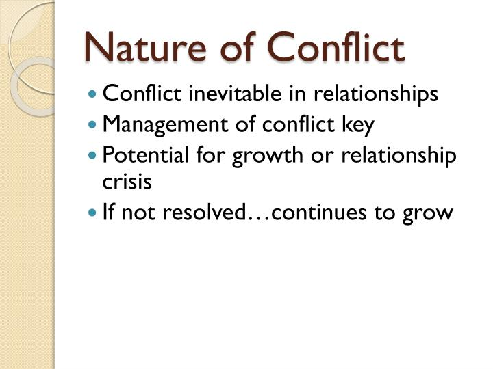nature of conflict n.