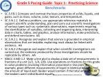 grade 5 pacing guide topic 1 practicing science benchmarks