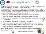 investigation two