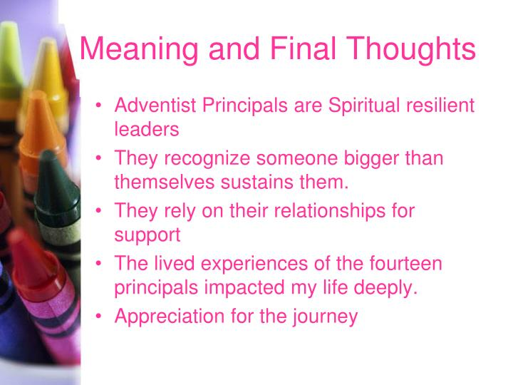 Meaning and Final Thoughts