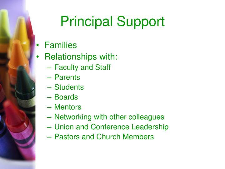 Principal Support