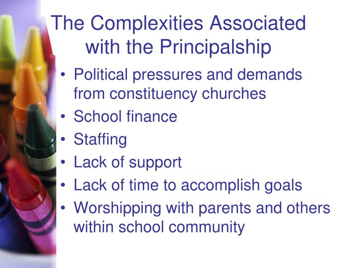 The Complexities Associated with the Principalship