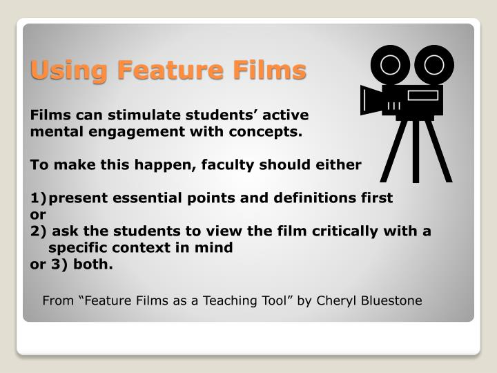 Films can stimulate students' active