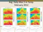 avg daily max 2 m temp february 2012