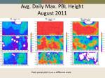 avg daily max pbl height august 2011
