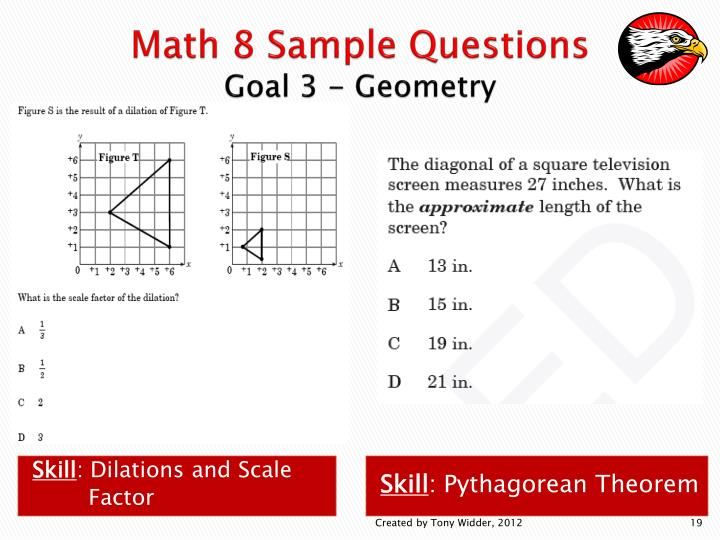 Math 8 Sample Questions