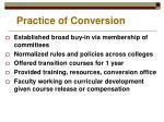practice of conversion