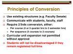 principles of conversion