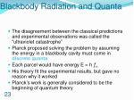 blackbody radiation and quanta