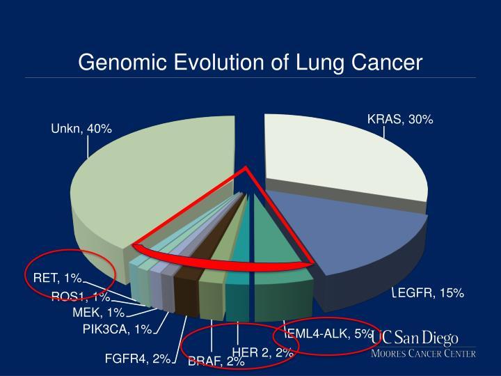 Genomic evolution of lung c ancer