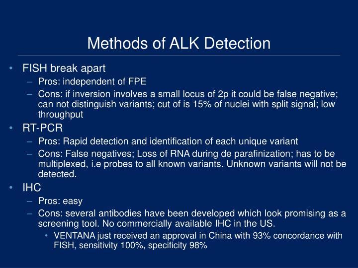 Methods of ALK