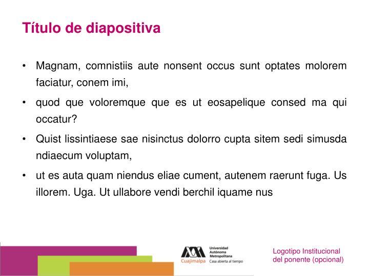 T tulo de diapositiva
