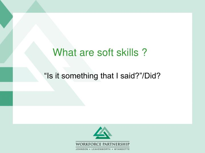 what are soft skills n.