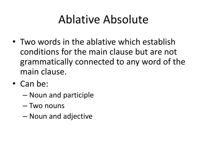 Ablative Absolute
