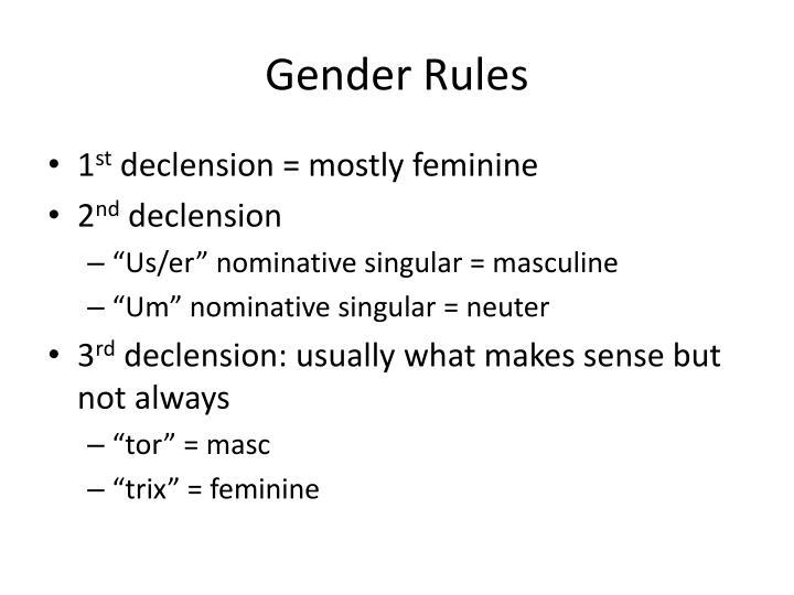 Gender Rules