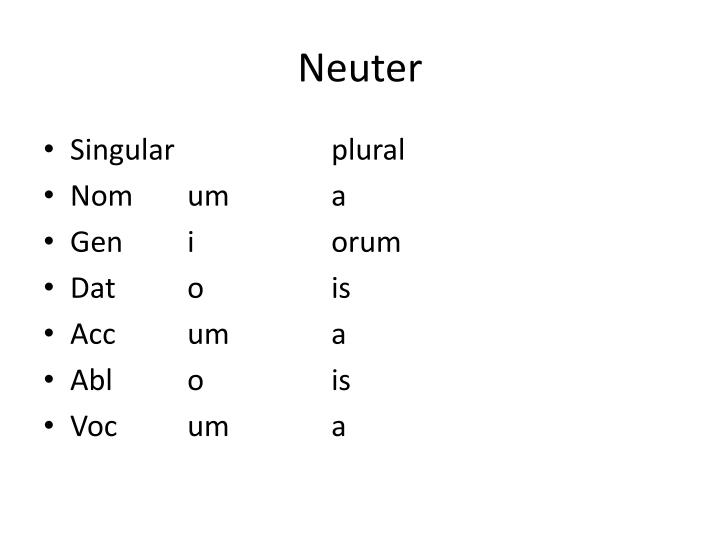 Neuter
