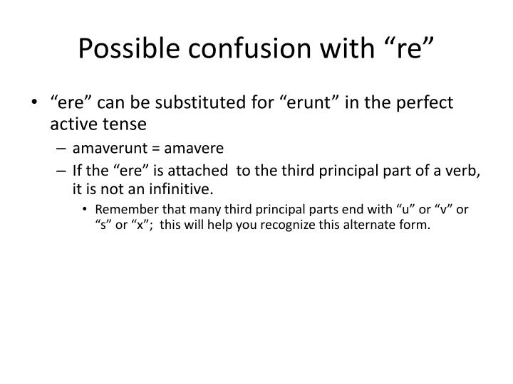 """Possible confusion with """"re"""""""