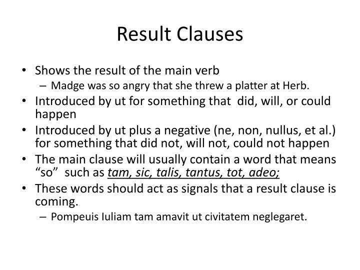 Result Clauses