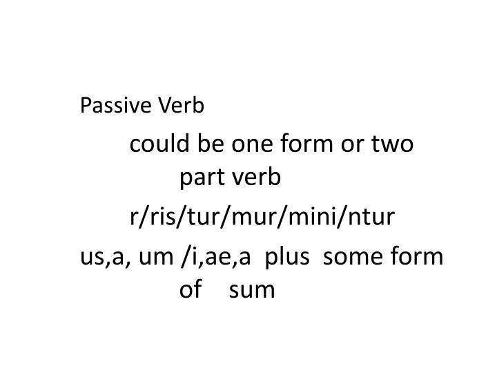 Passive Verb